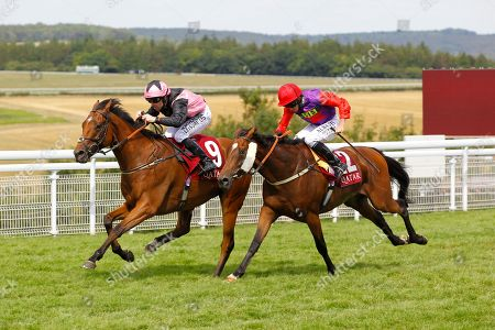 Sir Chauvelin and Robert Winston win the Qatar Summer Handicap at Goodwood to complete a double for trainer Jim Goldie.