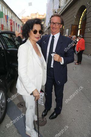 Bianca Jagger and Thaddaeus Ropac