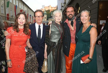 Vicky Leandros, Thaddeus Ropac, Vivienne Westwood, Andreas Kronthaler and Agnes Husslein