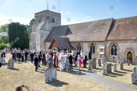 Guests at the wedding of Charlie Van Straubenzee and Daisy Jenks