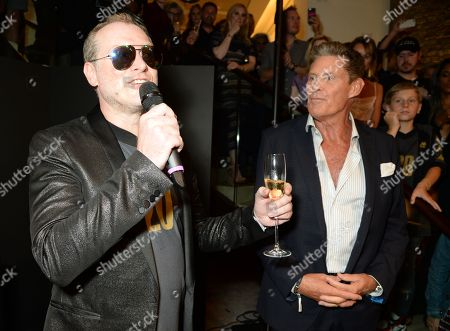 Stock Picture of Maximillion Cooper and David Hasselhoff