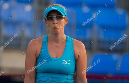 Stock Image of Anastasia Rodionova of Australia in action during qualifications at the 2018 Coupe Rogers WTA Premier 5 tennis tournament
