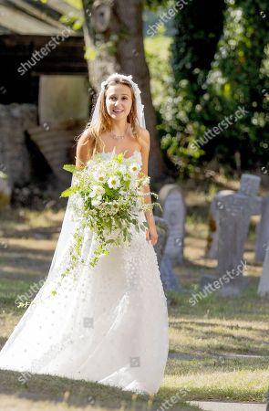 Editorial photo of The wedding of Daisy Jenks and Charlie van Straubenzee, St Mary the Virgin Church, Frensham, Surrey, UK - 04 Aug 2018