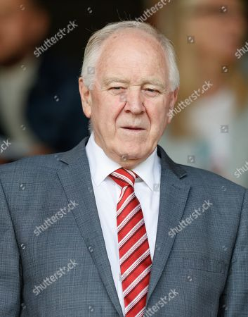Stock Photo of Craig Brown - former Aberdeen & Scotland Manager in the directors box.