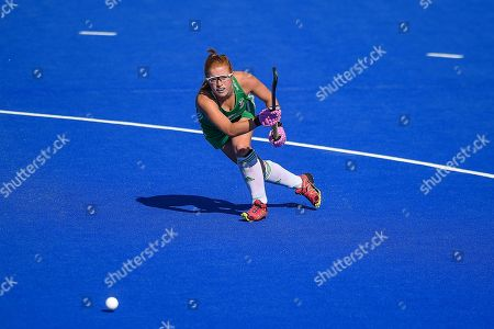Zoe Wilson of Ireland (27) during the Vitality Hockey Women's World Cup 2018 Finals Gold Medal match between the Netherlands and Ireland, at the Lee Valley Hockey and Tennis Centre, QE Olympic Park. Picture by Martin Cole