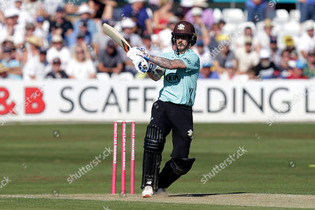 Nic Maddinson in batting action for Surrey during Essex Eagles vs Surrey, Vitality Blast T20 Cricket at The Cloudfm County Ground on 5th August 2018