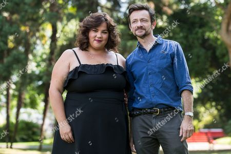 British actress Ella Smith (L) and British actor Justin Salinger pose during a photocall for the film 'Ray & Liz' at the 71st Locarno International Film Festival, in Locarno, Switzerland, 05 August 2018. The Festival del film Locarno 2018 runs from 01 to 11 August.
