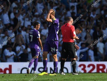 Darren Fletcher of Stoke City is dejected at full time