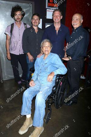 Jordan Abrams, associate producer, Corey Reeser, producer, Matt Tyrnauer, director, Bob Eisenhardt, film editor with Scotty Bowers