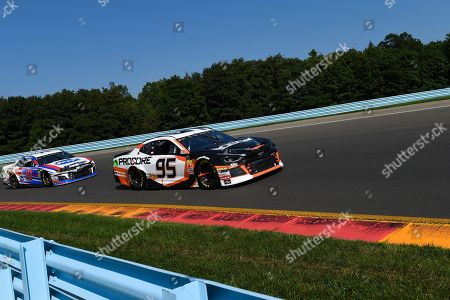 Monster Energy NASCAR Cup Series driver Kasey Kahne #95 leads Monster Energy NASCAR Cup Series driver AJ Allmendinger #47 during the Monster Energy NASCAR Cup Series Go Bowling at The Glen on at Watkins Glen International in Watkins Glen, New York