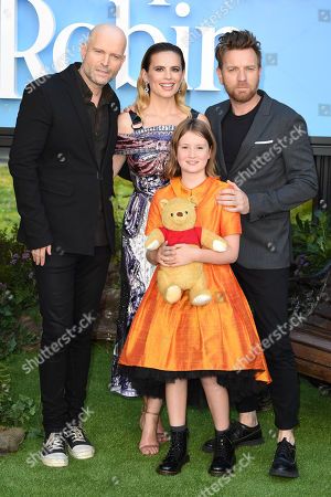 Marc Forster, Hayley Atwell, Bronte Carmichael and Ewan McGregor