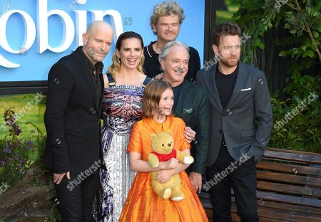 Marc Forster, Simon Farnaby, Ewan McGregor and Hayley Atwell and Bronte Carmichael