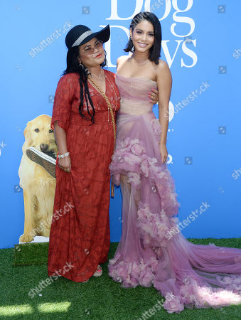 Stock Picture of Vanessa Hudgens and mother Gina Guangco