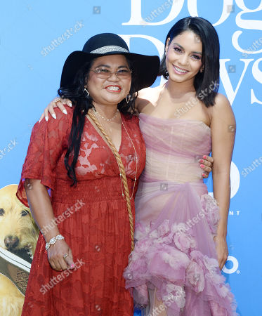 Stock Image of Vanessa Hudgens and mother Gina Guangco