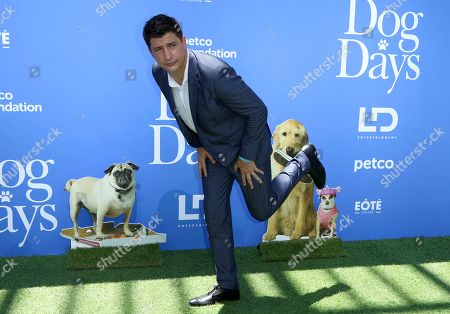 """Ken Marino arrives at the World Premiere of """"Dog Days"""" at the Atrium at Westfield Century City, in Los Angeles"""