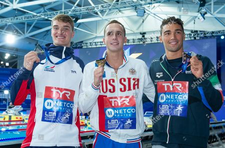 Great Britain's James Wilby takes silver in the mens 200m Breaststroke final along with Russia's Anton Chupkov taking gold and Italy's Luca Pizzini taking bronze.
