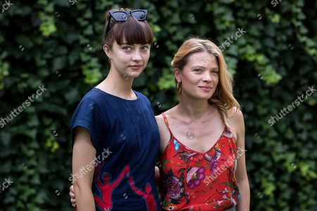 Russian actress Anastasia Shevtsova (L) and French actress Melanie Thierry pose during a photocall for the movie 'Le vent tourne' at the 71st Locarno International Film Festival, in Locarno, Switzerland, 06 August 2018. The Festival del film Locarno 2018 runs from 01 to 11 August.