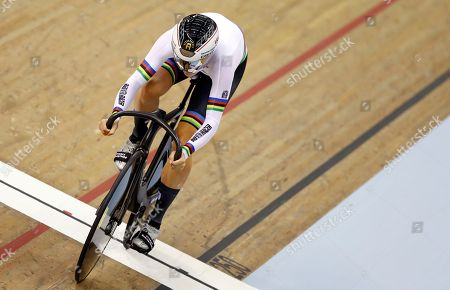 Miriam Welte of Germany competes in the 500 meters time trial women qualifying at the European Cycling Championships in Glasgow, Scotland