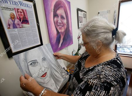 Brianna Morgan, Harlem Morgan. Susan Bro, mother of Heather Heyer, who was killed during the Unite the Right rally last year, looks over memorabilia in her office in Charlottesville, Va