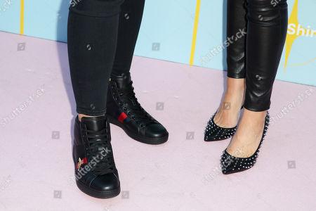 Abby Wambach and Glennon Doyle Melton, shoe detail