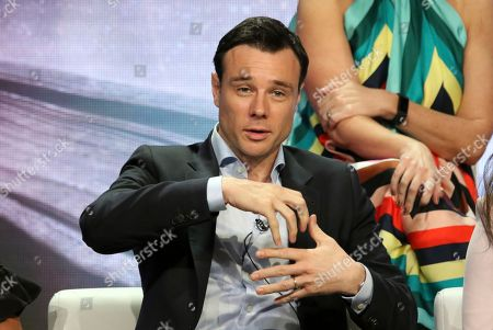 """Stock Photo of Rupert Evans participates in the """"Charmed"""" panel during the CW Television Critics Association Summer Press Tour at The Beverly Hilton hotel, in Beverly Hills, Calif"""