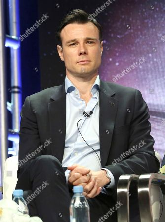 """Rupert Evans participates in the """"Charmed"""" panel during the CW Television Critics Association Summer Press Tour at The Beverly Hilton hotel, in Beverly Hills, Calif"""
