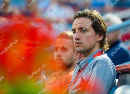 Stock Image of Alexander Gilkes watching girlfriend Maria Sharapova