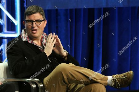 """Roberto Aguirre-Sacasa participates in the """"Riverdale"""" panel during the CW Television Critics Association Summer Press Tour at The Beverly Hilton hotel, in Beverly Hills, Calif"""