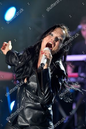 Stock Image of Finnish rock singer Tarja Turunen performs on stage during a concert at the annual Byblos International Festival (BIF), in the ancient city of Byblos (Jbeil), north of Beirut, Lebanon, 06 August 2018. The festival runs from 01 to 24 August.