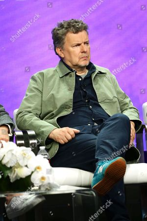 """Michel Gondry, executive producer/director, speaks at the """"Kidding"""" Panel at Showtime TCA Summer Press Tour 2018"""
