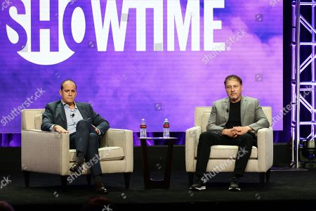David Nevins, President & CEO of Showtime Networks Inc., and Gary Levine, President of Programing for Showtime Networks Inc., speak at Showtime TCA Summer Press Tour 2018