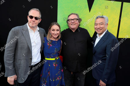 Stock Picture of Toby Emmerich, Chairman of Warner Bros. Pictures Group, Blair Rich, President, Worldwide Marketing, Warner Bros. Pictures Group and Warner Bros. Home Entertainment, Lorenzo di Bonaventura, Producer, Kevin Tsujihara, Chairman and Chief Executive Officer, Warner Bros.,