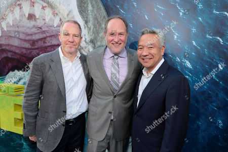 Toby Emmerich, Chairman of Warner Bros. Pictures Group, Jon Turteltaub, Director, Kevin Tsujihara, Chairman and Chief Executive Officer, Warner Bros.,