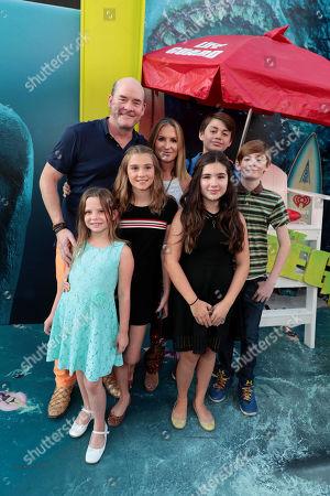 Stock Image of David Koechner, Leigh Koechner, family
