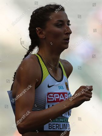Christina Hering of Germany competes in the women's 800m heats at the Athletics 2018 European Championships, Berlin in Germany, 07 August 2018.