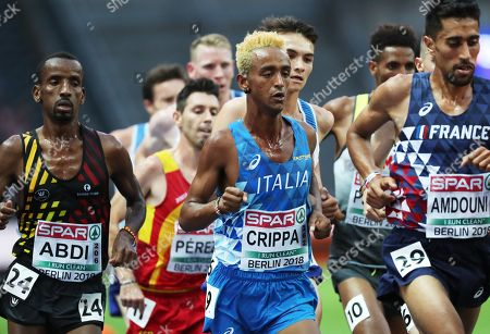 Yemaneberhan Crippa of Italy in action in the men's 10000m final at the Athletics 2018 European Championships in Berlin, Germany, 07 August 2018.