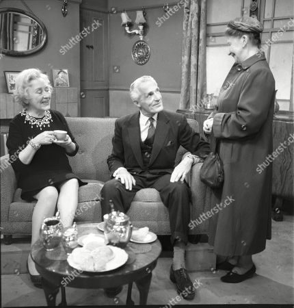 Doris Speed (as Annie Walker), Ian Colin (as Arthur Forsythe-Jones) and Margot Bryant (as Minnie Caldwell)