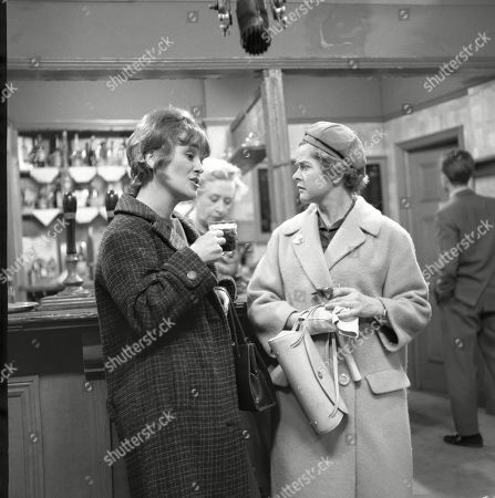 Christine Hargreaves (as Christine Appleby), Doris Speed (as Annie Walker) and Daphne Oxenford (as Esther Hayes)