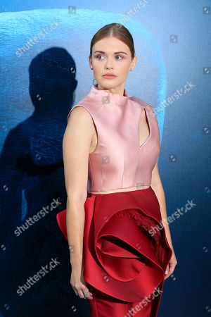 Stock Photo of US actress Holland Roden attends the US premiere of 'The Meg' at the TCL Chinese Theatre IMAX in Hollywood, Los Angeles, California, USA, 06 August 2018 (issued 07 August 2018). The movie opens in the US on 10 August.