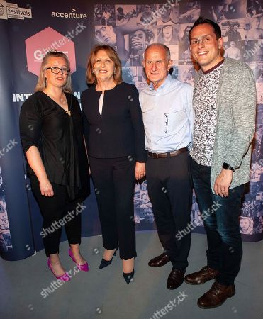 Sarah Williams (Chair of the board of GAZE) Dr. Mary McAleese, Former President of Ireland, her husbsnd Martin McAleese and her son Jason
