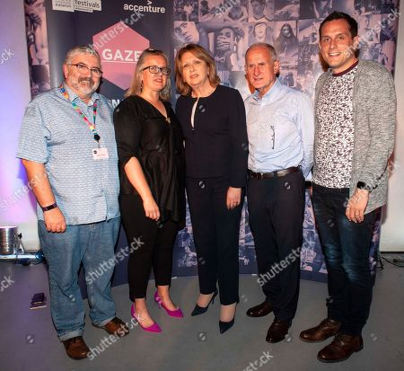 Bill Hughes (Board Member, GAZE), Sarah Williams (Chair of the board of GAZE) Dr. Mary McAleese, Former President of Ireland, her husbsnd Martin McAleese and her son Jason