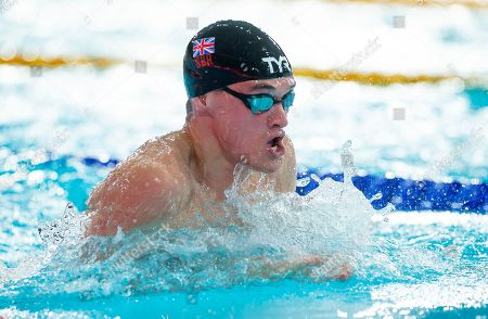Great Britain's James Wilby races in his 50m Breaststroke heat.