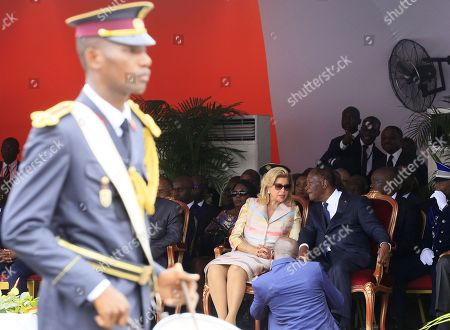 Ivory Coast President Alassane Ouattara (R) with his wife Dominique Folloroux-Ouattara (L) during celebrations marking the 58th anniversary of Independence in Abidjan, Ivory Coast, 07 August 2018. Ivory Coast became independent from the French colonial rule on 07 August 1960.