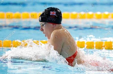 Siobhan-Marie O Connor of Great Britain swims in the 200 meters individual medley women semi-final at the European Swimming Championships in Glasgow, Scotland