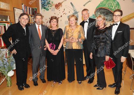 Markus Hinterhaeuser, Joachim Sauer, Helga Rabl Stadler, Angela Merkel, Martin Bartenstein, wife Ilse and Lukas Crepaz