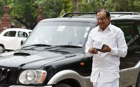 Senior Congress leader P. Chidambaram during the ongoing Monsoon Session of Parliament, on August 6, 2018 in New Delhi, India.