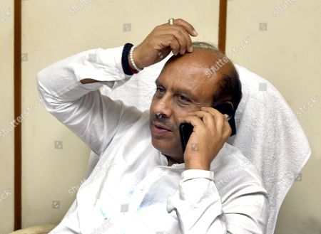 Bharatiya Janata Party leader Vijender Gupta seen at his office at Vidhan Sabha, on August 6, 2018 in New Delhi, India.