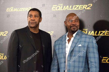 Denzel Washington and Antoine Fuqua