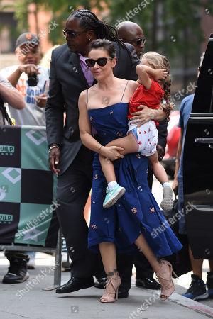 Alyssa Milano with daughter Elizabella Dylan Bugliari
