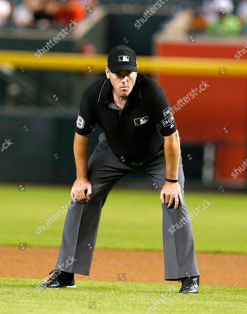 MLB umpire Chris Conroy (98) during a baseball game between the Arizona Diamondbacks and the Philadelphia Phillies, in Phoenix